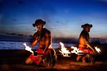 Polynesische Hula-Tänzer