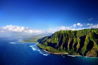 Die grüne Na Pali Küste Kauai