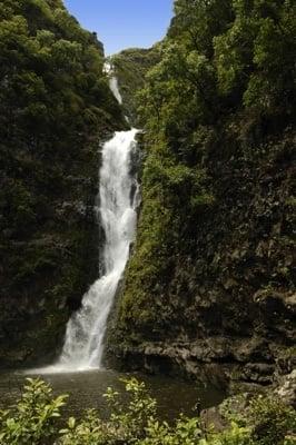 Wasserfall im Halawa Valley